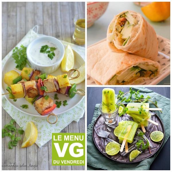 Un menu végétalien parfait quand il fait chaud et qu'on a pas envie de se mettre devant les fourneaux