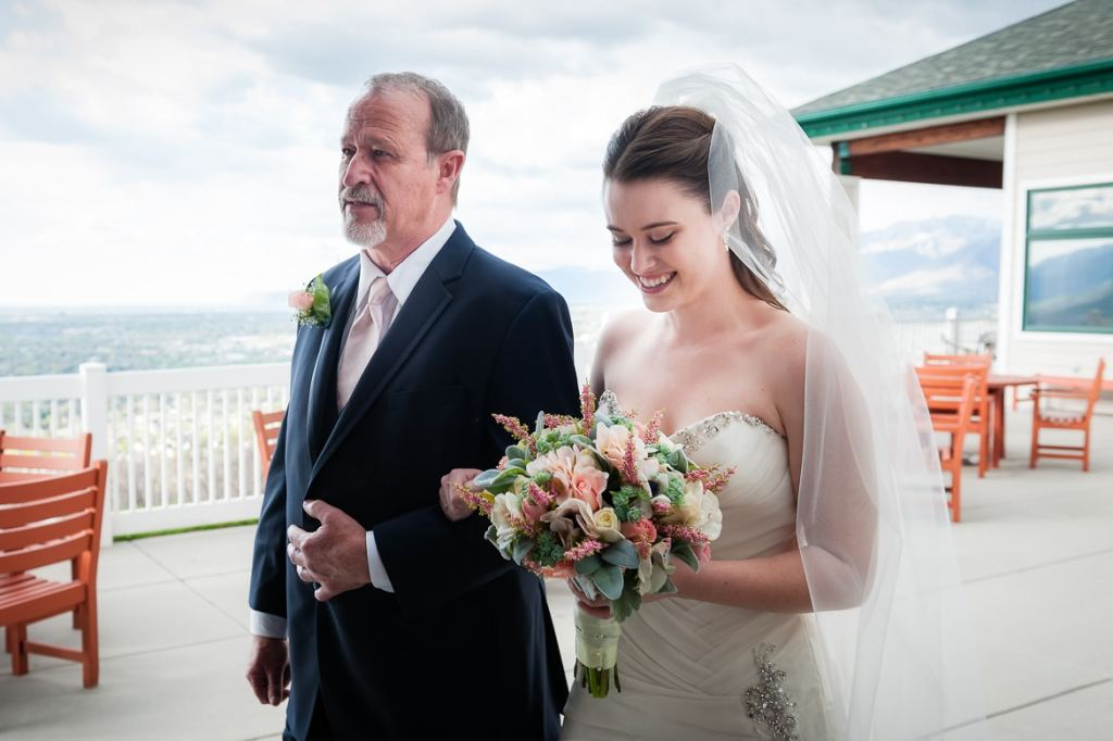 Honoring Dad at your wedding starts with him walking you down the aisle.