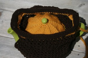 Sholeen's version of Mr. Knightley's tea cozy.  Beautifully knit!