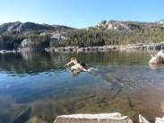 Jumping into freezing Waugh Lake
