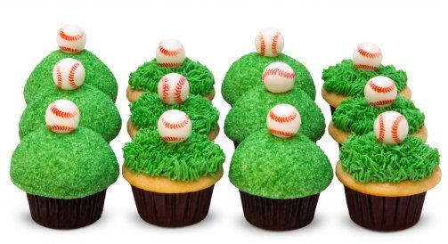 Easy Home Baking Baseball Cupcakes For Father 39 S Day