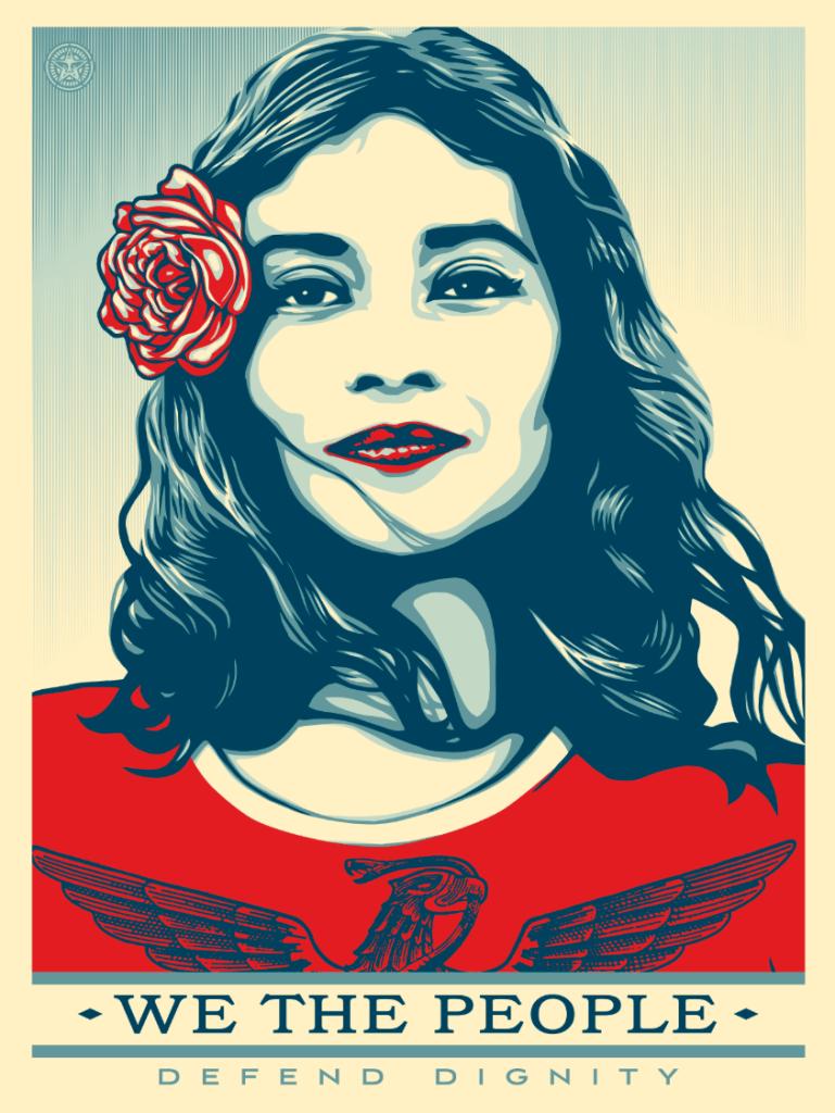 Mexican-American woman with a rose in her hair.