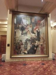 The big painting across Juan Luna's Spolarium - the assassination of Villalobos by Hidalgo