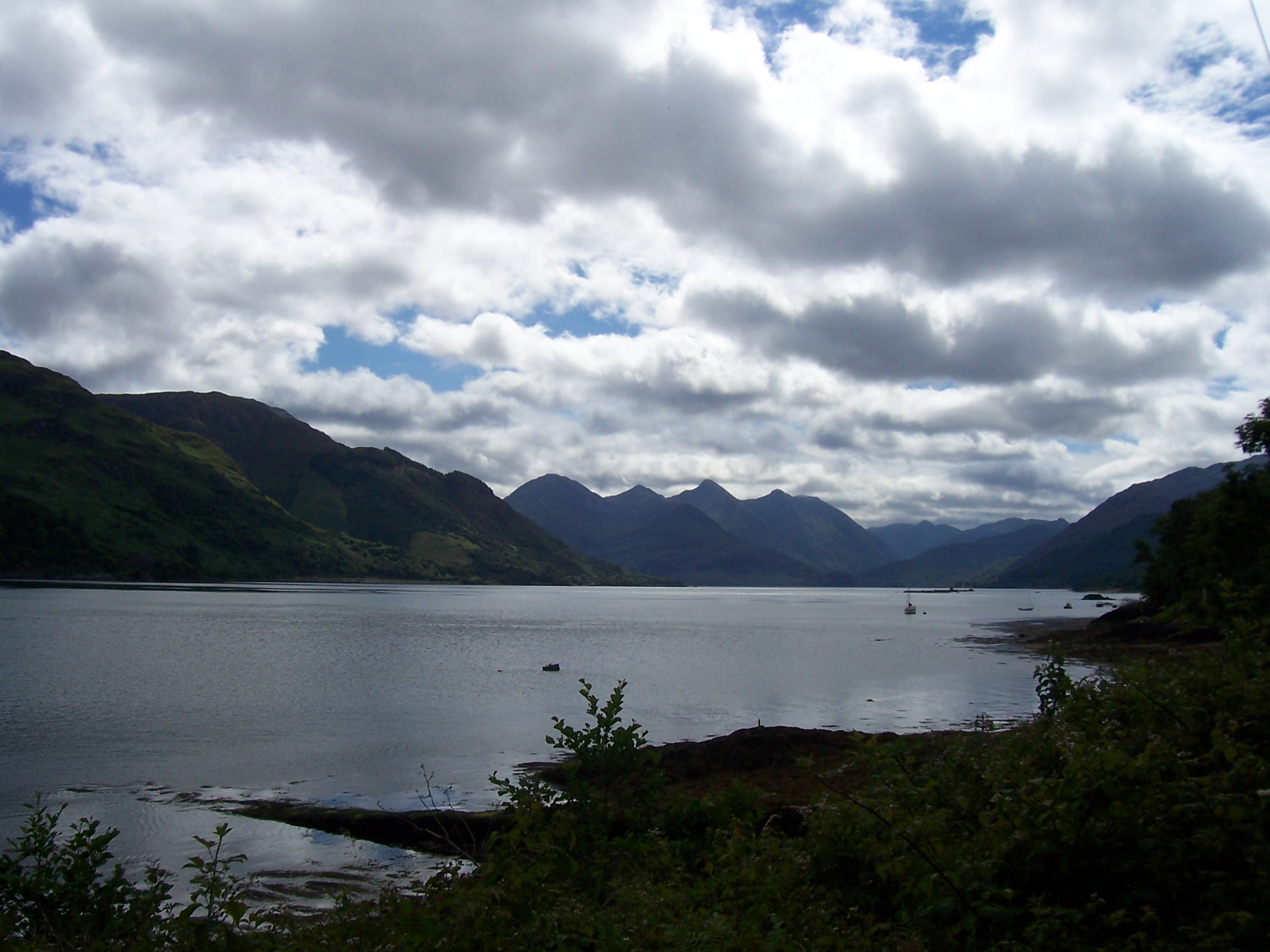 The Five Sisters and Loch Duich, Kintail, Scotland