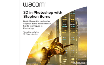 Wacom Webinar: Digital Fine Artist and Author Stephen Burns July 14 @ 12:00 pm – 2:00 pm