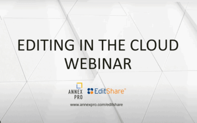 Editing in The Cloud Webinar with Editshare on demand