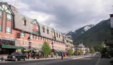 our hotel in Banff - the main street
