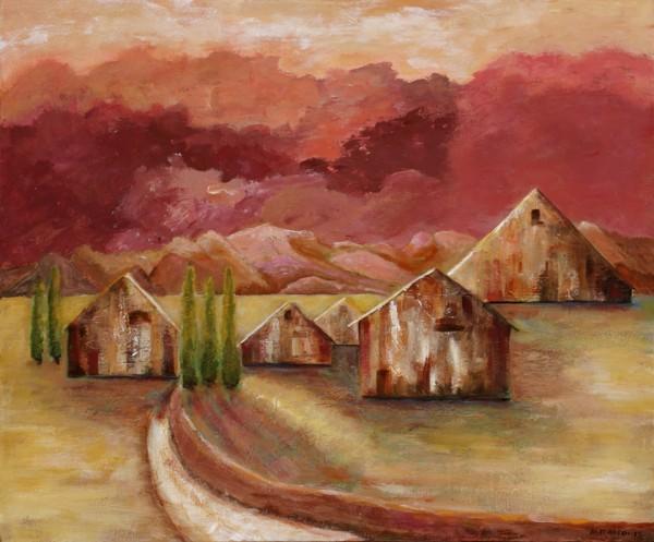 Road Home, Summer, acrylic on canvas, 2009, ©Ann Hart Marquis