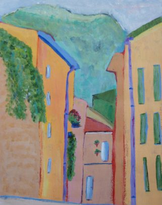 painting showing exposure to Fauvism