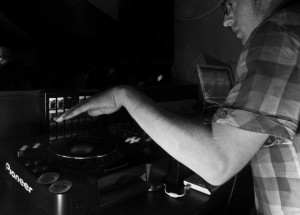 DJ spinning discs