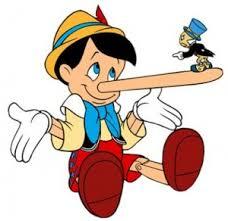 Pinocchio telling lies