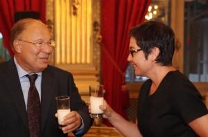 Avec Dalil Boubakeur.