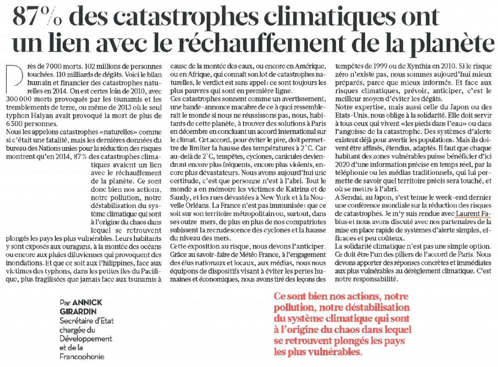 Tribune à Libération