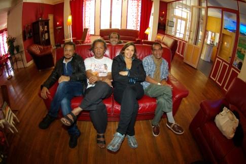 Sur le canapé Rouge