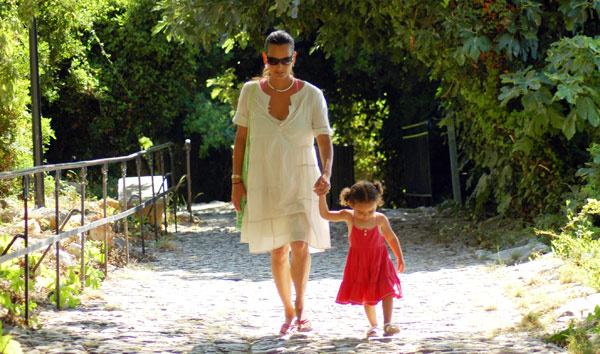Strolling on a foot path On st Margerite island