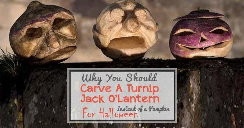 Why you should carve turnip jack o lanterns instead of pumpkins for halloween