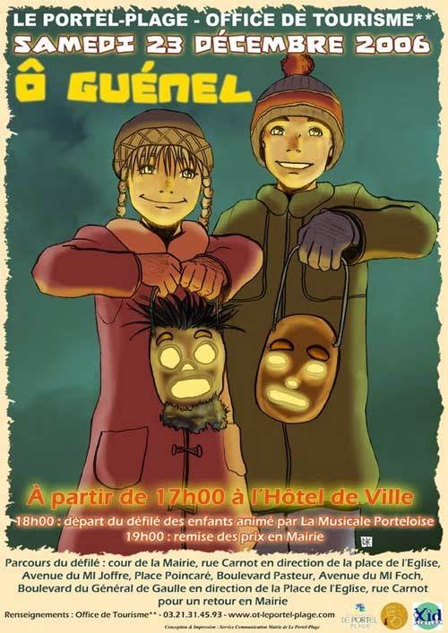 festival de Guénel in France and their carved beets