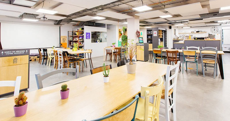 L'ANTICAFE: is a co-working space in Paris for students and professionals who need coffee while they work but don't want to go to a noisy, crowded Starbucks.