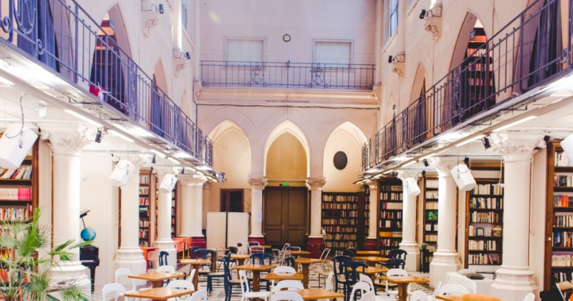 L'ARCHIPEL CAFE: Is a co-working cafe in a converted chapel