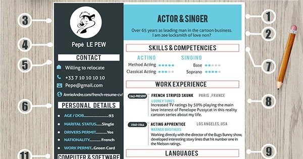 Infographic Tips to help you create the perfect attention grabbing French CV