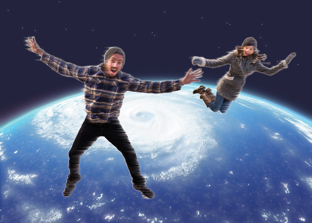 Photobombing – Photoshop Montage – Jesse & Jaime go flying!