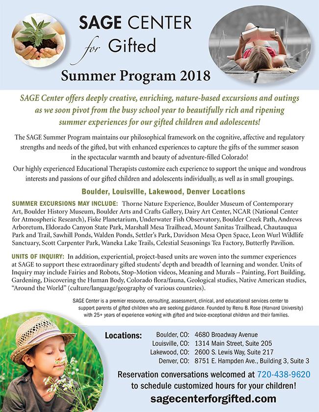 Graphic Design – SAGE Summer 2018 flyer