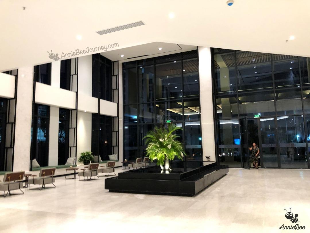 Entrance hall at Anya hotel in Quy Nhon, Vietnam