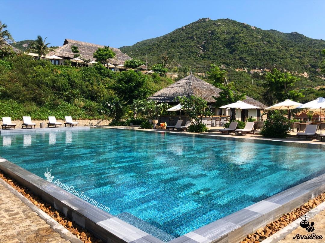 Outdoor swimming pool at Crown Retreat Quy Nhon, Vietnam