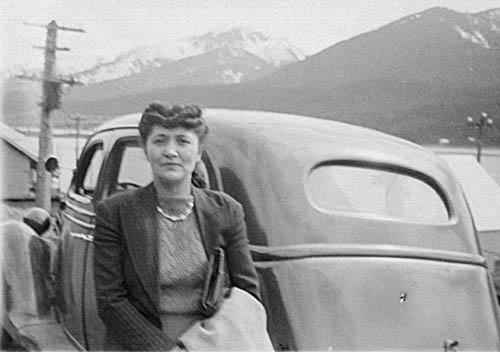 Elizabeth Peratrovich and old car