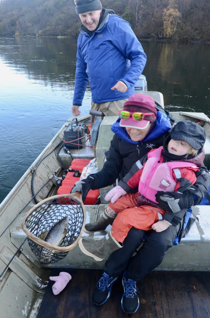 Annie B with grand daughter fishing
