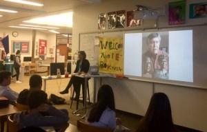 Annie B Presenting at Hanshew Middle School, Anchorage