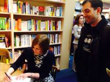 Actually signing books!