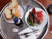 Post hike on Buyukada, Prince's Islands. Lamb kebap and Efes beer.