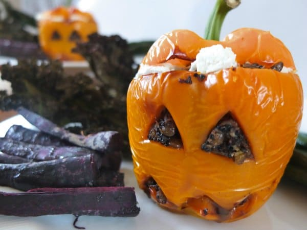 Stuffed 'Pumpkin' Peppers