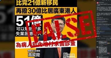 False: Hospital Authority did not allocate HK$3 billion to subsidize the medical fees of Hong Kongers living in Guangdong
