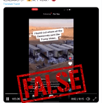 False: This video does not show mail-in votes for Trump being dumped into a landfill
