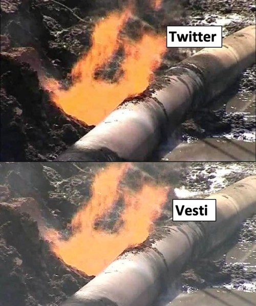 burning pipeline