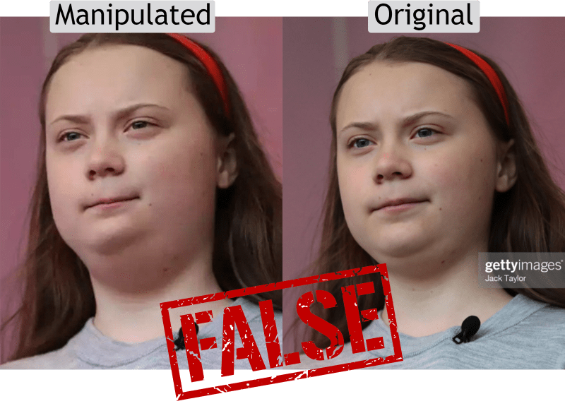 False: Images of Greta Thunberg's 'weight gain' are digitally manipulated   annie lab