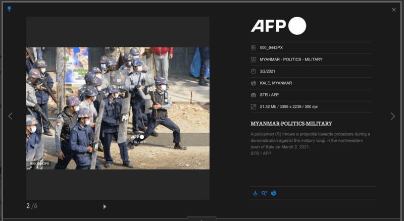 AFP original of Myanmar police intervention