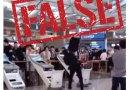 False: This video does not show a man vandalizing 'vaccine passport verification' machines