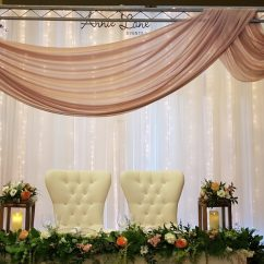 Chair Cover Rentals Durham Region Hanging Quatropi Annie Lane Events Decor Centrepieces Covers Specialty 1