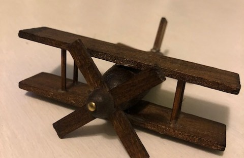 1980s wooden toy airplane