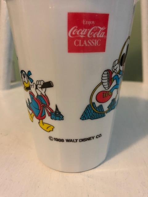 1988 Enjoy Coca Cola Classic plastic souvenir cup
