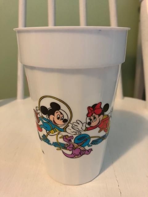 1988 Walt Disney Co. plastic souvenir cup