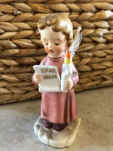 Angel Singing with Candle Figurine