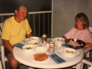 Eating shrimp, Naples Florida 1993
