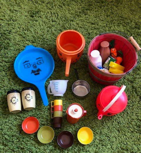 1980s Vintage Play Food and Kitchen Toys