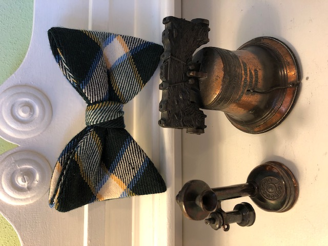 Grandpa's Bow Tie, Telephone Pencil Sharpener and Liberty Bell