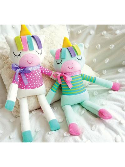 Unicorn Plush Pattern : unicorn, plush, pattern, Sewing, Patterns, Sleepy, Unicorn, Softie, Pattern