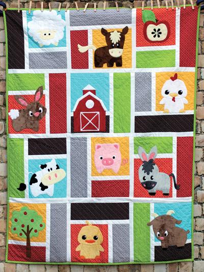 Animal Baby Quilt Patterns : animal, quilt, patterns, Animal, Quilt, Patterns, Barnyard, Pattern